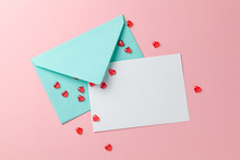 Love Letter With Red Hearts. B...