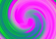 Pink And Green Vortex Abstract Swirl Design Background Illustration