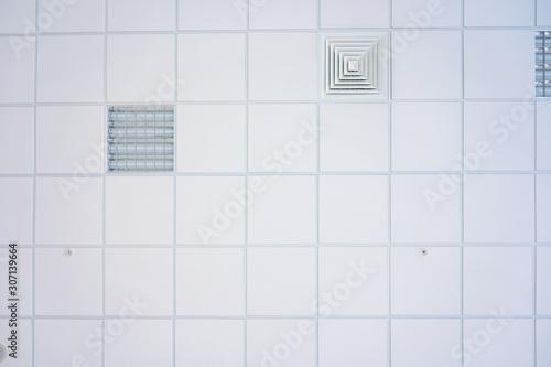 Foto Squared background concept in white