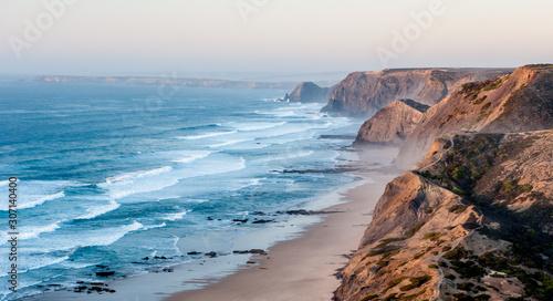 Canvas PORTUGAL, Praia do Magoito - Magoito Beach viewed from above