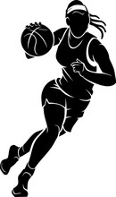 Women's Basketball, Female Athlete Silhouette