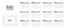 Calendar 2020 Year. Desctop Ca...