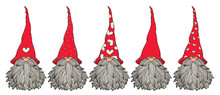 Vector  Cute Gnomes Cartoons, ...
