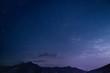Leinwandbild Motiv night sky and moon