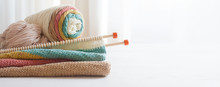 Knitting Wool And Knitting Nee...