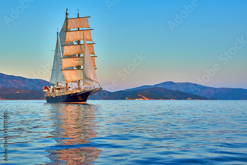 Luxury sailing yacht cruises. Yachting © Alvov