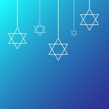 Happy Hanukkah Shining Backgro...
