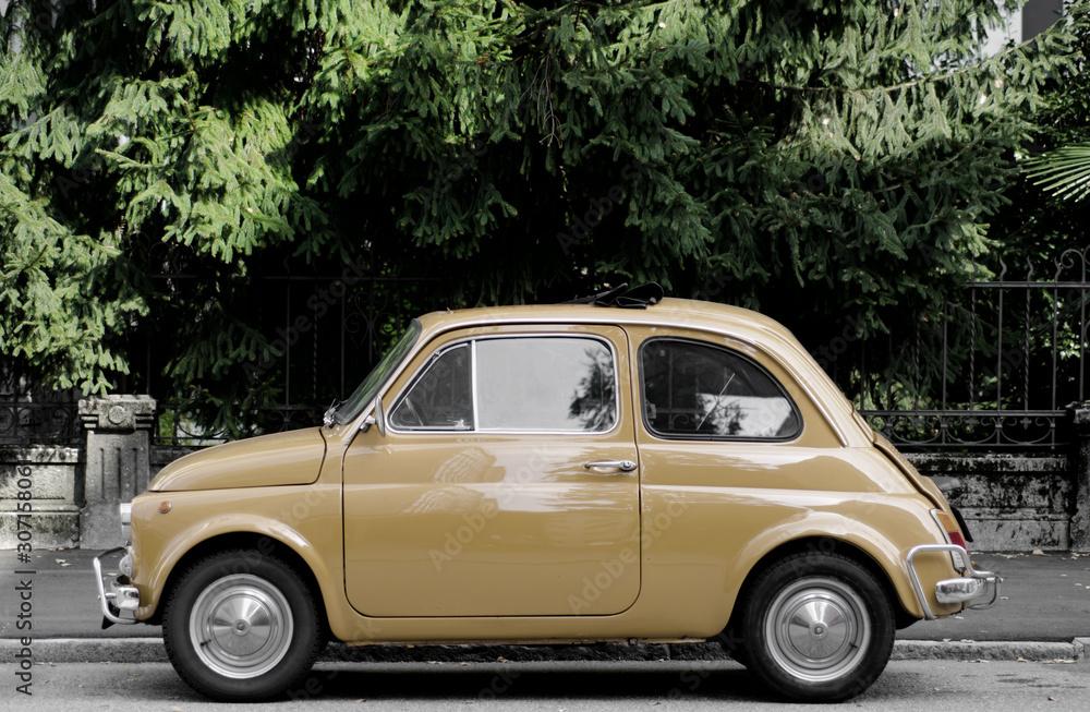 Old Italian Classic Car in Italy.