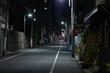 【東京都台東区】夜の街の道路