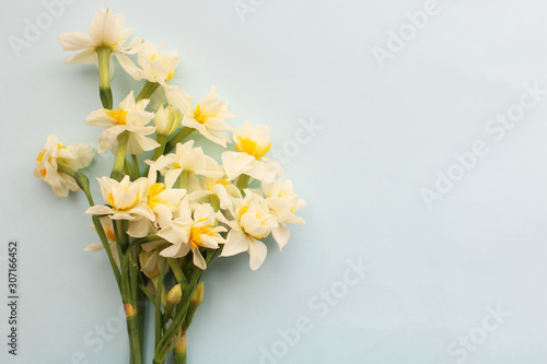 Fotografie, Obraz bouquet of white narcissus flowers