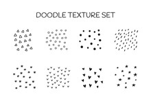 Set Of Doodle Textures Includi...
