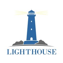 Lighthouse Building Logo, Icon And Template