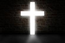Cross Shaping Door In A Dark Room