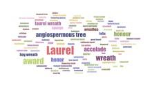 Laurel Wordcloud Animated On W...