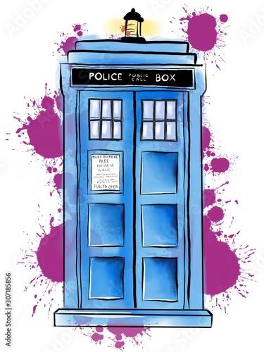 TARDIS Tablou Canvas