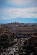 Aerial view of Rome and the Colosseum
