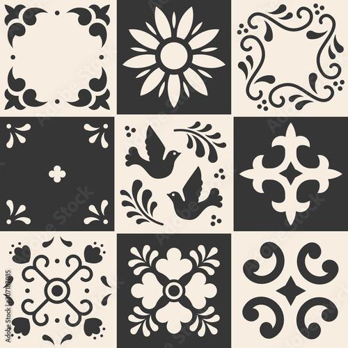 Mexican talavera pattern Canvas Print