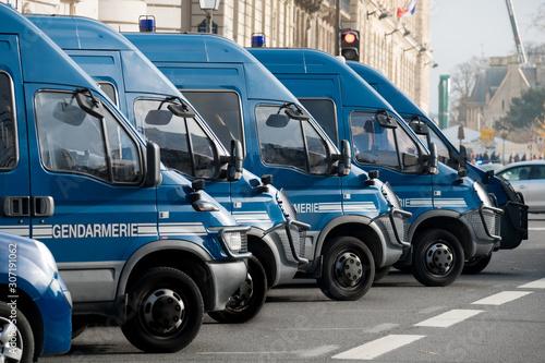 Camions de gendarmerie à paris Canvas