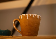 Ceramic Cup With Glazed Edges