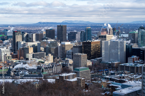 A Montreal Cityscape in Winter