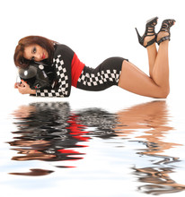 Sexy Girl In A Racing Suit