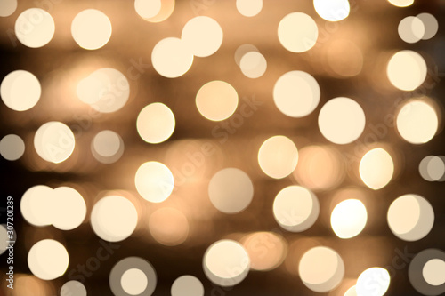 Fotografie, Tablou  Abstract gold bokeh, Christmas and new year theme background.