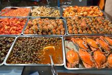 Various Seafood At Street Mark...