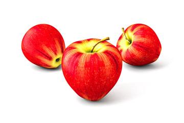 Jabłko. Render 3D.