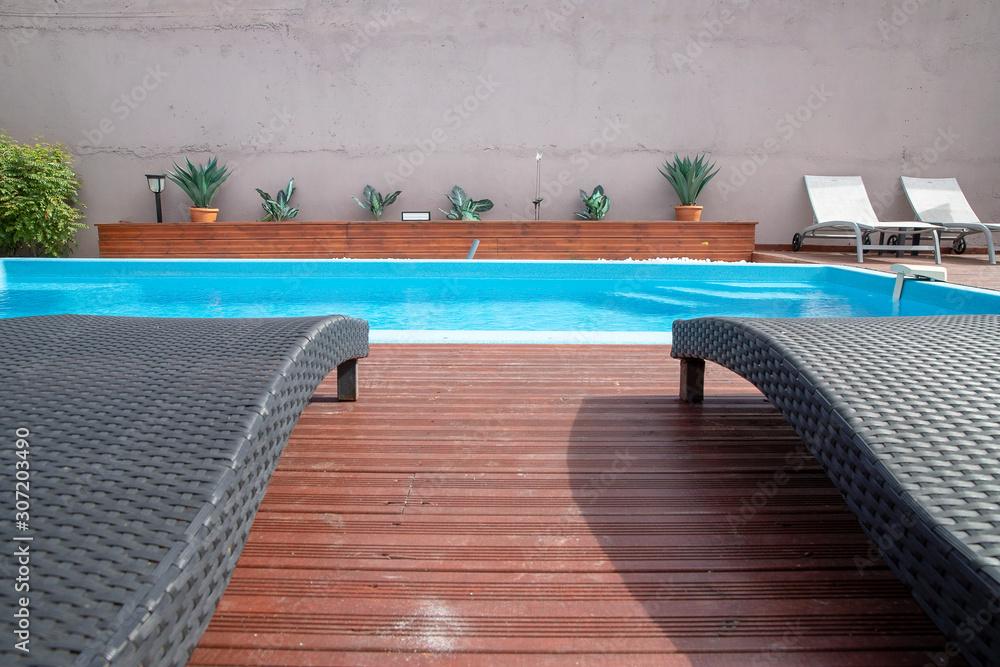 Fototapeta pool in hotel