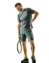One Caucasian Mature Tennis Pl...