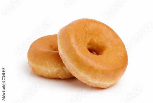 Fotografie, Tablou Two donut with white background