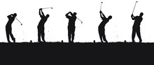 Vector Silhouettes Of Golfers ...