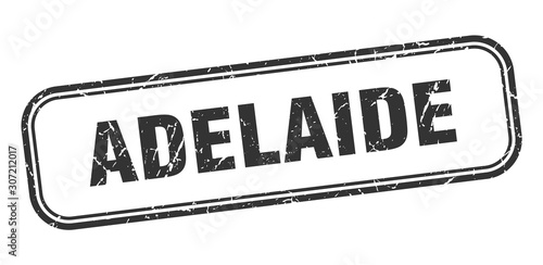 Photo Adelaide stamp. Adelaide black grunge isolated sign