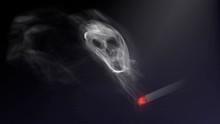 Smoke Skull And Cigarette, Har...