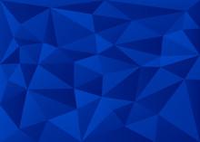 Deep Blue 3D Polygon Geometric...