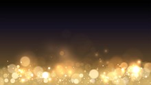 Vector Background With Golden Bokeh Dust, Heaps Of Gold, Blur Effect, Sparks