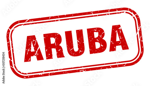 Aruba stamp. Aruba red grunge isolated sign Wallpaper Mural
