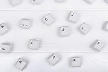 Keyboard Keys Isolated. White ...
