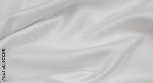 Leinwand Poster White silk fabric lines