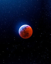 Red Moon During Nighttime