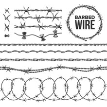 Barb Wire Collection With Razo...