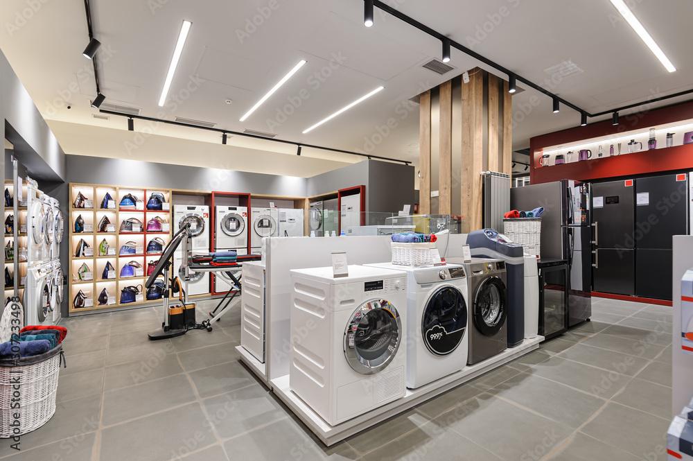 Fototapeta Premium home appliance store interior