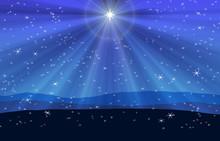 Blue Christmas Nativity Desert...
