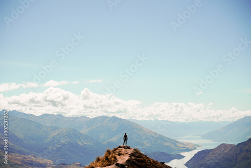 Woman on Top of Mountain - Warm