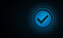 Digital Check With Ripples ''P...