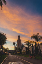 Sunset In Balboa Park San Diego