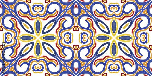 Antique portuguese tiles Canvas Print