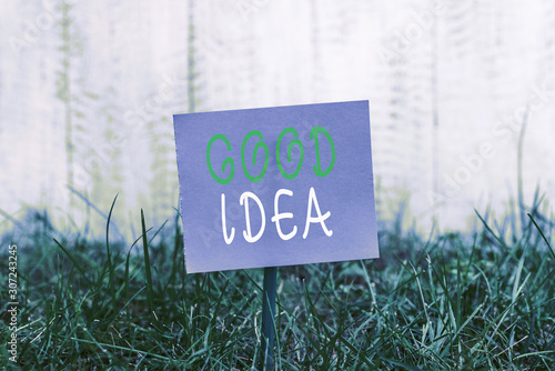 Writing note showing Good Idea Canvas Print