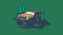 Off-road Car Logo, Safari Suv,...