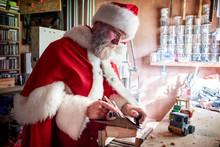 Man Wearing Santa Claus Costum...